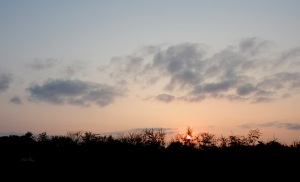 Sunset on the ridge  . . .  autumn soon will be here.